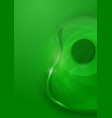 Abstract Guitar Green Background vector image