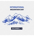 Poster international mountain day December vector image