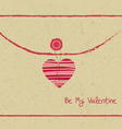 Valentine day letter hearts vector image