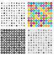 100 tension icons set variant vector image vector image