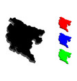 3d map of montenegro vector image vector image