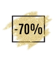 70 percent off discount promotion tag