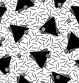 80s triangle seamless pattern in black and white vector image