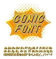 Alphabet in comics style vector image