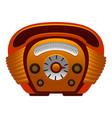 american radio icon cartoon style vector image vector image