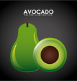 avocado design vector image
