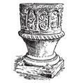 baptismal font at tidenham vintage