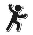 baseball pictogram icon vector image vector image
