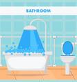 bathroom design flat vector image