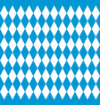 bavarian flag seamless pattern for oktoberfest vector image