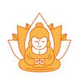 buddha and lotus religious sacred vector image vector image