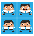 Business men with white shirt and tie vector image