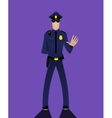 Cartoon doodle security policeman vector image