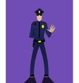 Cartoon doodle security policeman vector image