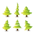 Christmas tree set Abstract stylized trees vector image vector image