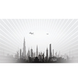 cityscape with planes black vector image vector image