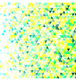 Colorful triangles geometric pattern vector image vector image