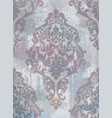 damask texture grunge background floral vector image vector image