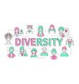 diversity - line design style modern banner vector image