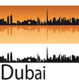 Dubai skyline in orange background vector | Price: 1 Credit (USD $1)