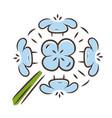 franciscan wallflower blue color icon garden vector image