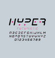 futuristic style font vector image vector image