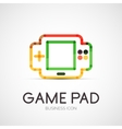Gamepad company logo business concept vector image