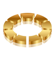 gold cycle icon vector image vector image