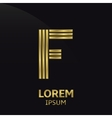 Golden letter symbol vector image vector image