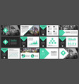 green and black elements for infographics vector image