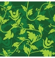 green floral seamless patter vector image vector image