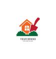 home gardening logo vector image vector image