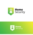 home security service minimalistic logo vector image