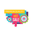 hot sale premium quality label abstract flowers vector image