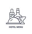 hotel menu line icon concept hotel menu vector image vector image