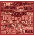 Huddersfield A Concise Tourist Guide text vector image vector image