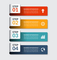 Infographic design number banners template vector image