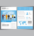 international labor day brochure design template vector image vector image