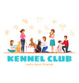 kennel club vector image