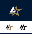 letter l logo template with star design element vector image vector image
