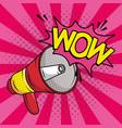 megaphone sound device pop art style vector image vector image