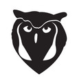 owl face silhouette vector image vector image