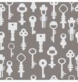 Pattern retro keys vector image vector image
