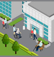 pensioners isometric vector image vector image
