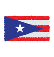 pixelated flag of puerto rico vector image vector image