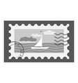 Postage stamp icon gray monochrome style vector image vector image