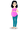 pregnant woman beautiful lady vector image vector image