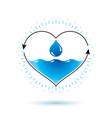 pure water abstract logotype for use in mineral vector image