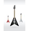 rock guitar vector image vector image