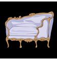 rococo sofa doodle vector image vector image